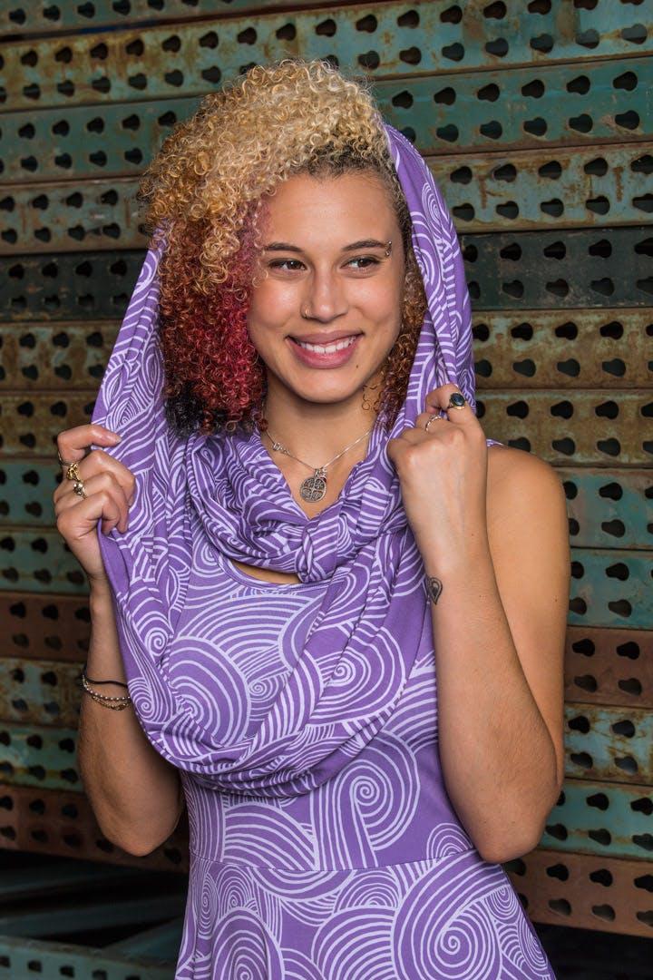 Tali pattern skater dress and Tali pattern infinity scarf
