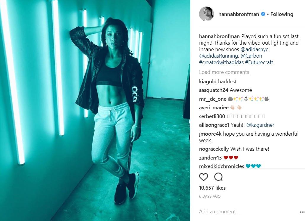 fitness models on instagram : hannah bronfman