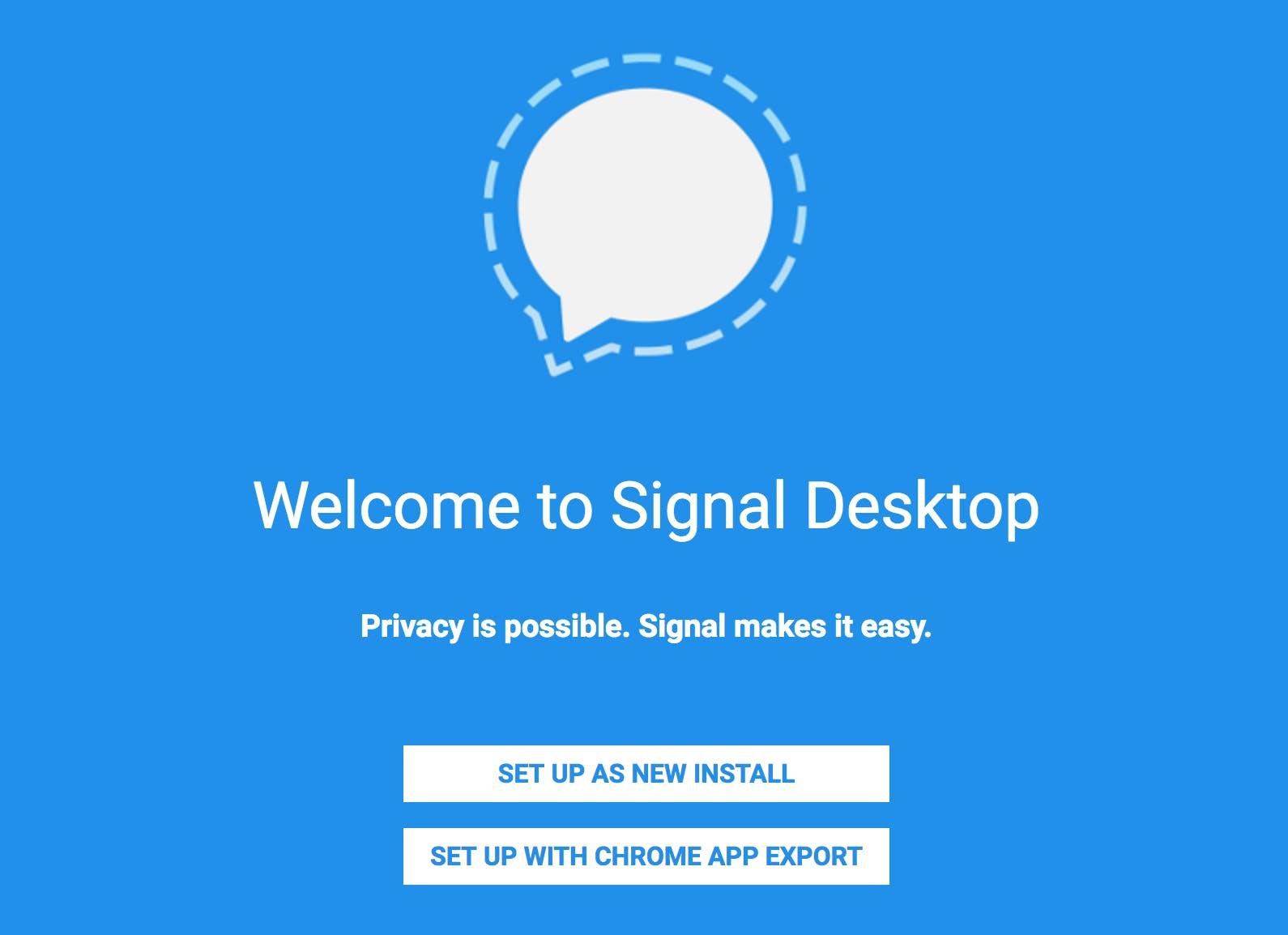 Signal Desktop Setup
