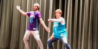 Ginny Jenkins and her son go viral with 'History of Dance' routine