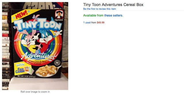 tiny toon adventures cereal