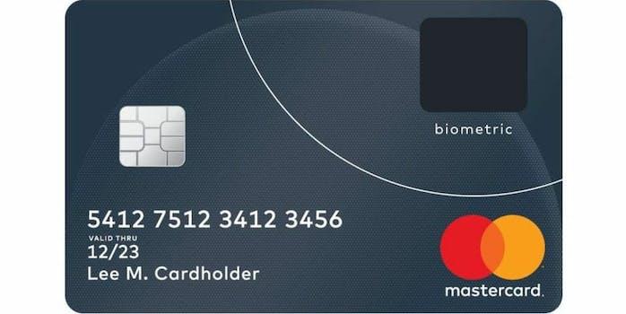 mastercard credit card fingerprint reader