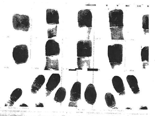 Swartz's fingerprints
