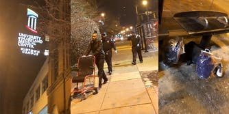 University of Maryland Medical Center security guards leave half-dressed, incapacitated patient at bus stop