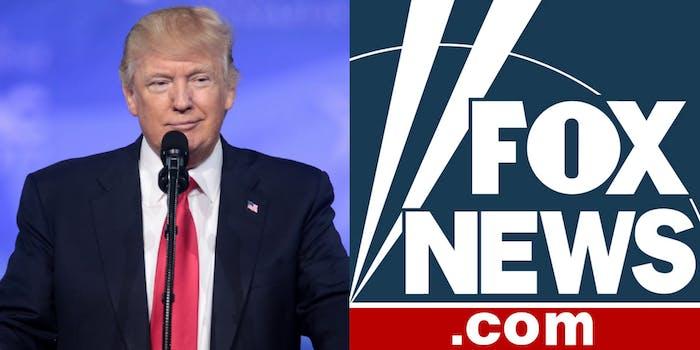 Donald Trump and Fox News Logo