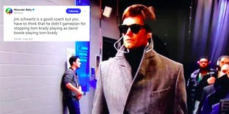 Tom Brady wearing trench coat