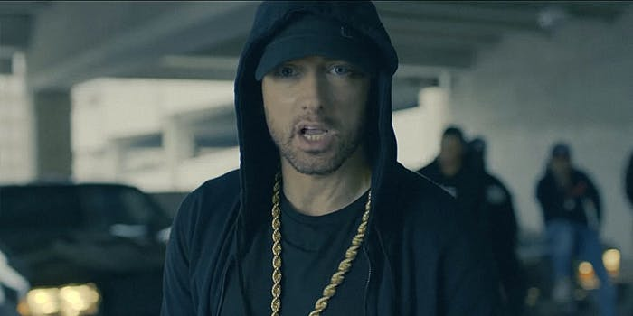 Eminem raps about Trump for the BET Awards