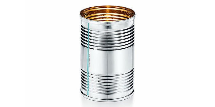 $1000 tin can from Tiffany & Co everyday objects line
