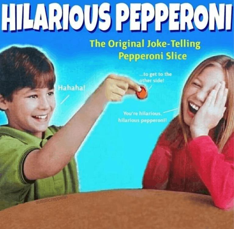 hilarious pepperoni connect four meme