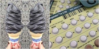 black ice cream birth control pill charcoal