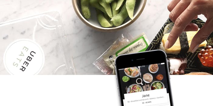 UberEATS with iPhone