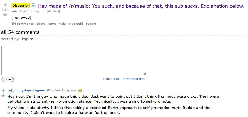 James Andrews understands why r/music mods might be grumpy