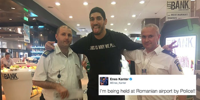 Enes Kantar allegedly detained in a Romanian airport