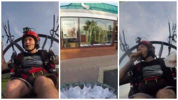 Paramotor to McDonald's
