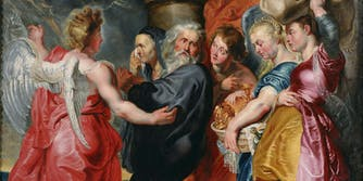 The Flight of Lot and His Family from Sodom (after Rubens)