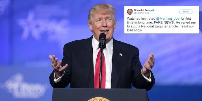Donald Trump attacked Morning Joe again on Friday.
