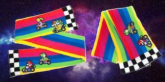 rainbow road scarf