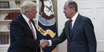 Donald Trump and Sergey Lavrov at White House Meeting