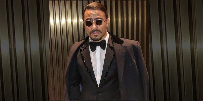 Salt Bae wearing his sunglasses at night. He was recently profiled in the New York Times.