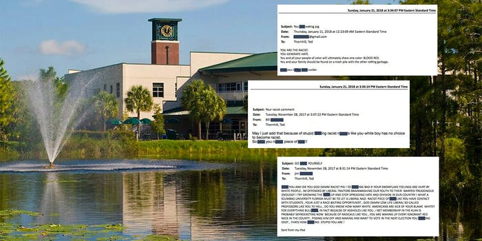 Florida Gulf Coast University with racist hate emails