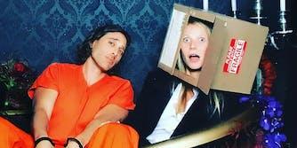 Gwyneth Paltrow wearing box costume from Se7en