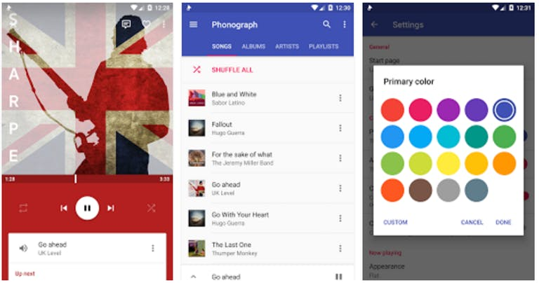 music player for android : phonograph
