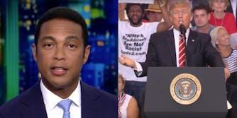 CNN Host Don Lemon and Donald Trump at Phoenix Campaign Rally