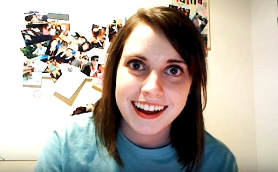 Overly Attached Girlfriend meme: Laina Morris