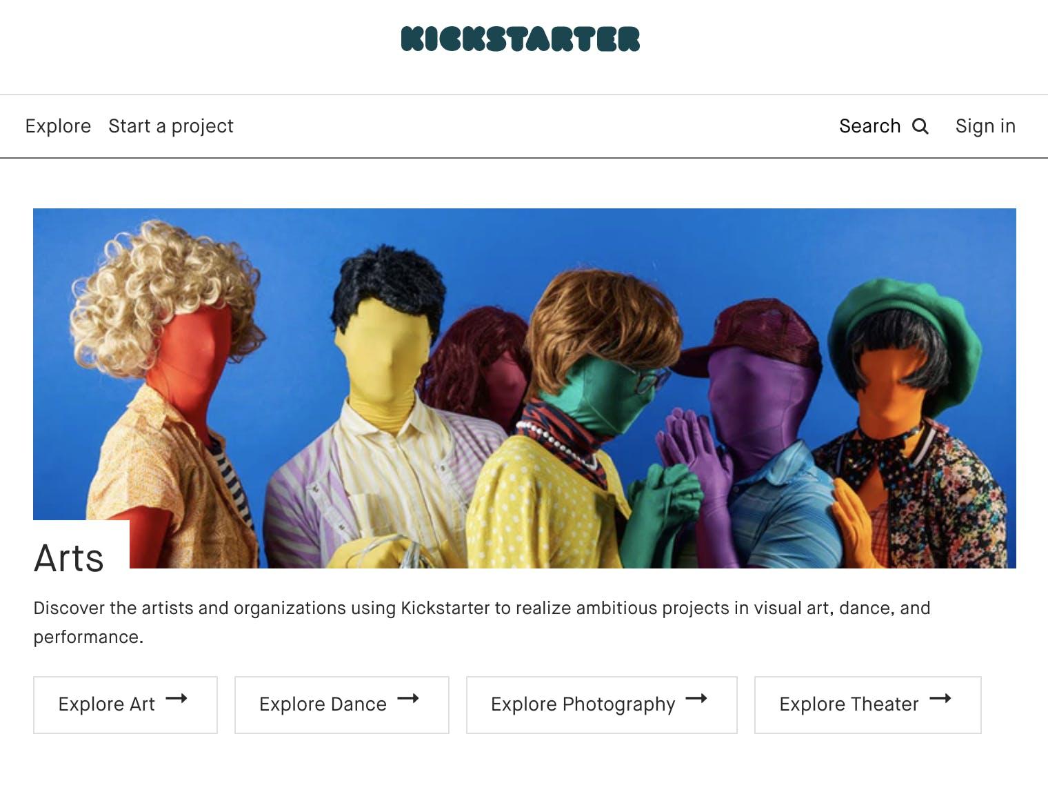 gofundme alternatives - kickstarter