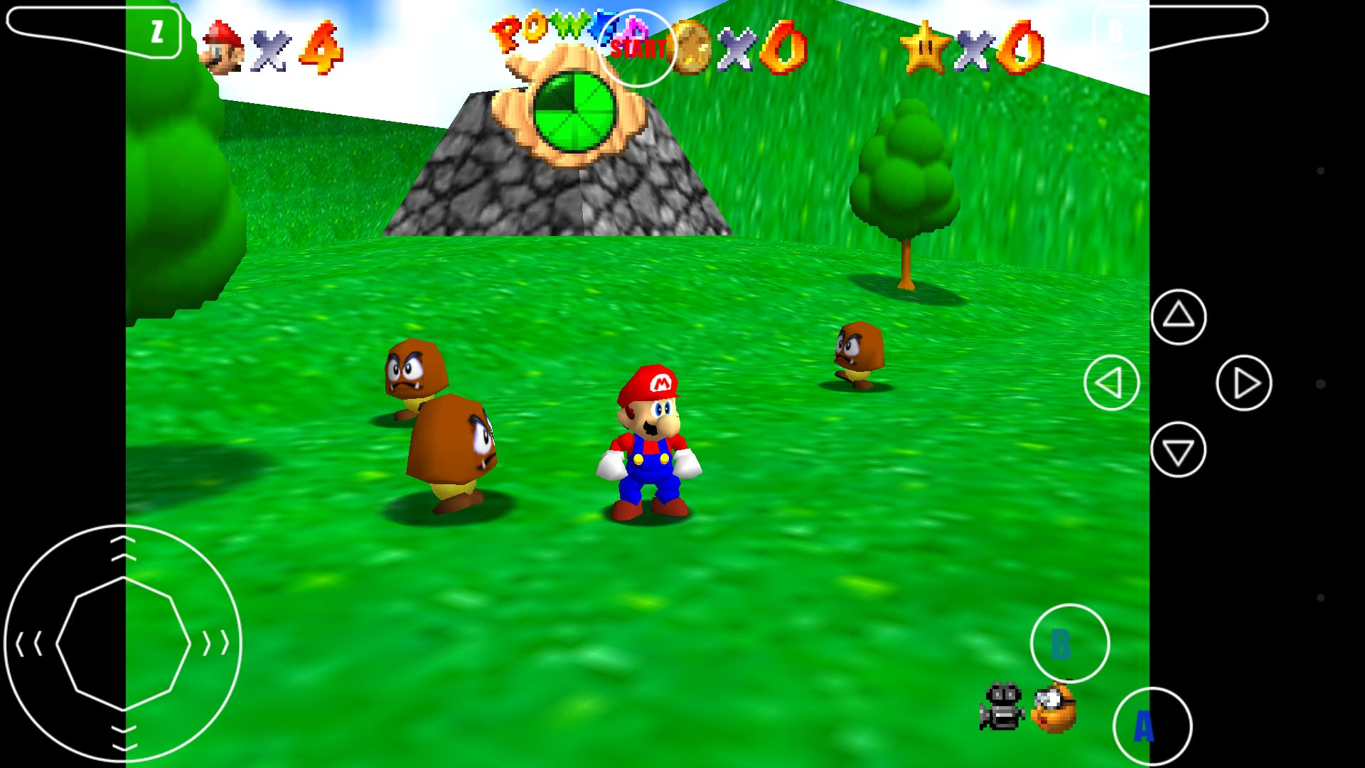 """""""Super Mario 64"""" emulated by Mupen64"""