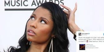 Nicki Minaj college tuition Twitter