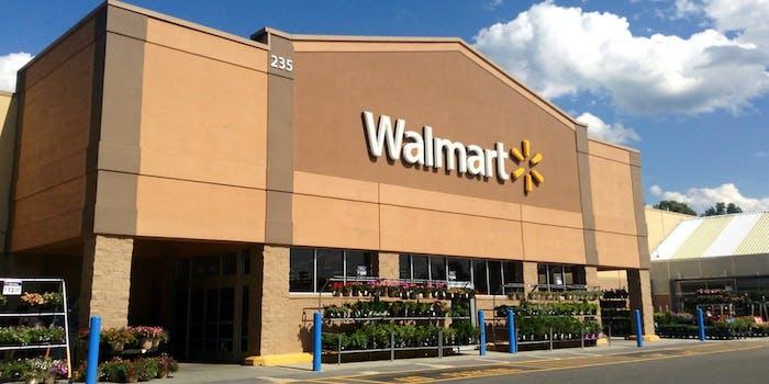 Walmart back to school guns display