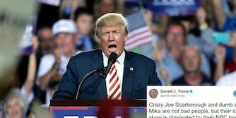 Donald Trump Mika Brzezinski Twitter dumb as a rock