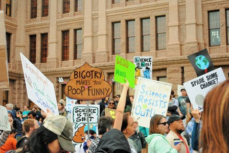 March for Science sees familiar signs similar to the Women's March