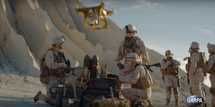 us military drones darpa soldiers