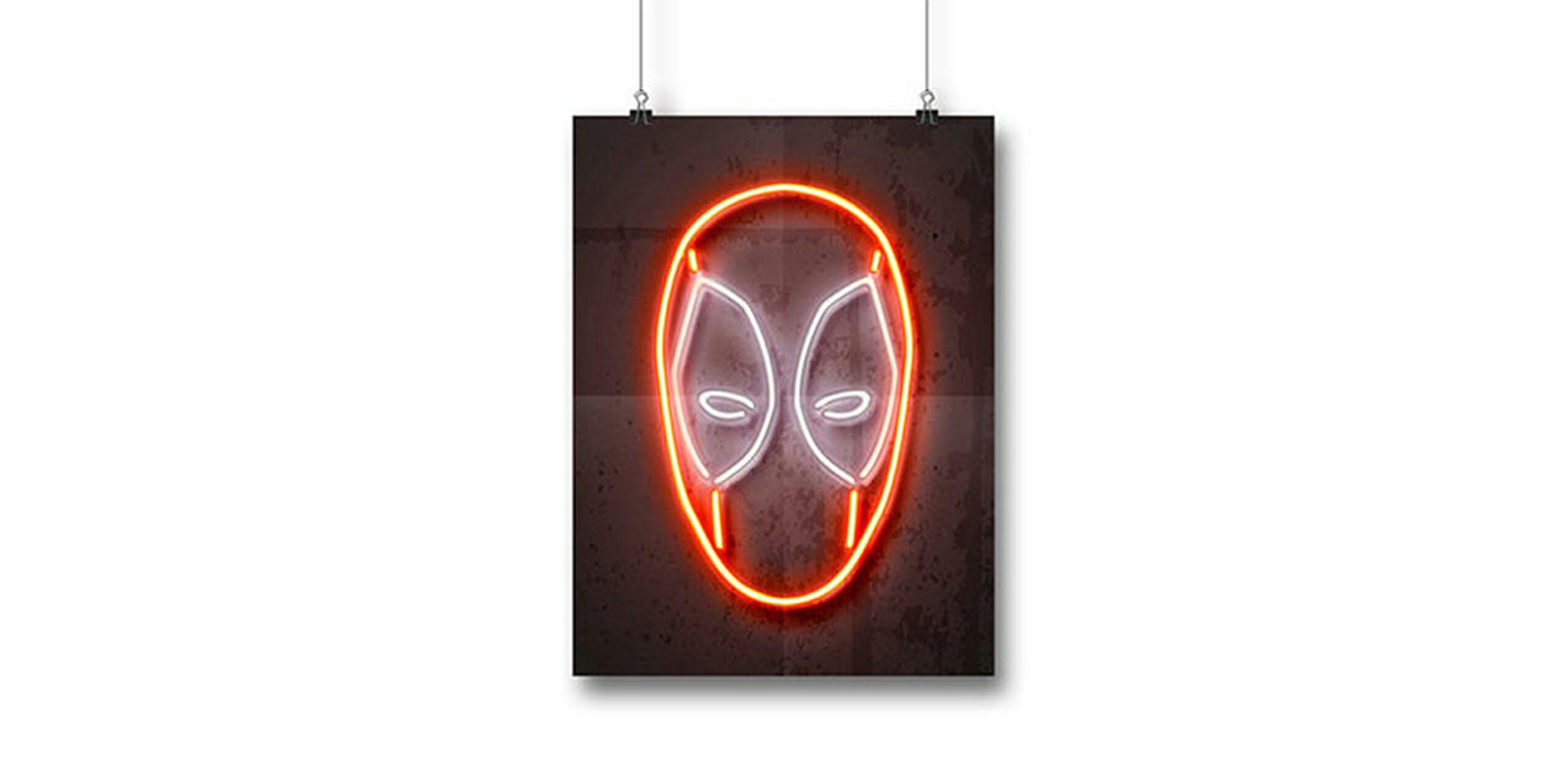 neon superhero prints