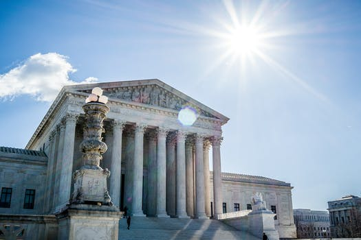 The Supreme Court of the U.S. building.