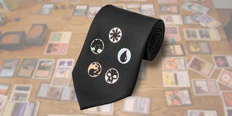Magic: The Gathering mana symbol necktie