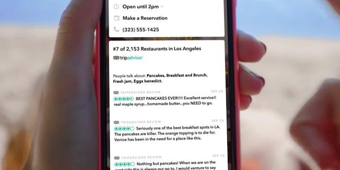 snap snapchat context cards