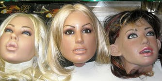 Real doll heads in case