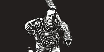 Negan holding a baseball bat