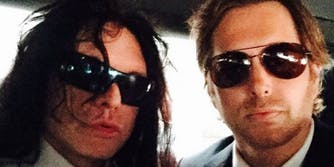 Tommy Wiseau in a limo.