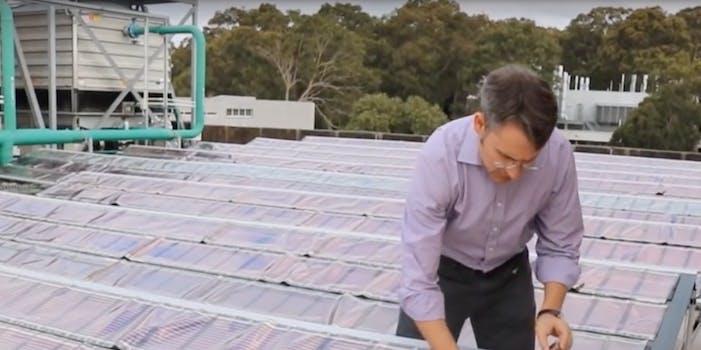 Printed solar panel installation
