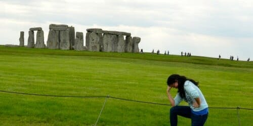Tebowing Stonehenge