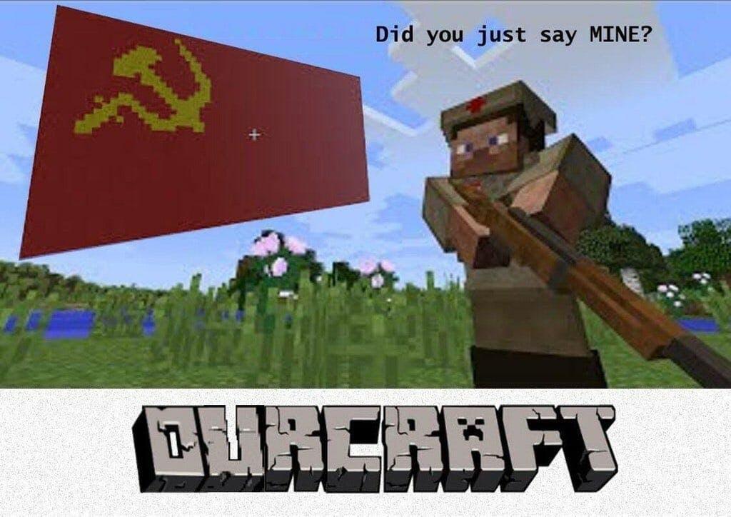 minecraft ourcraft stalin meme