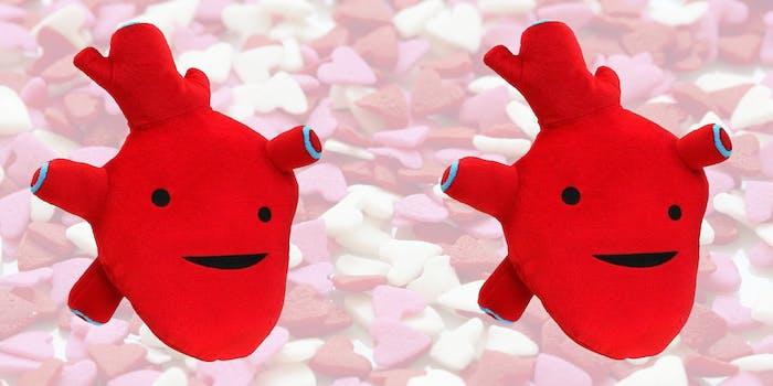 realistic heart plush