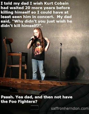 Saffron Herndon Nirvana joke