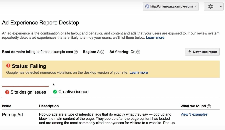 google chrome ad blocker : status check