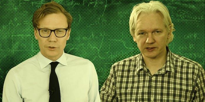 Alexander Nix and Julian Assange