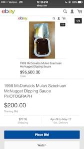 rick and morty meme : szechuan sauce on ebay